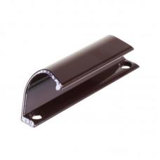Ручка-тянучка балконная металлическая коричневая (ракушка)