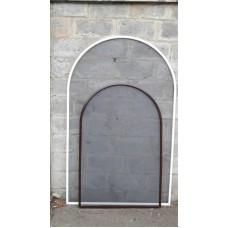 Арочная антимоскитная сетка для окна, коричневая