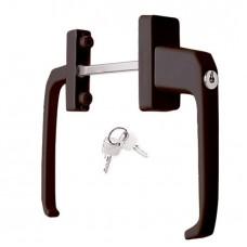 Ручка двусторонняя с ключом коричневая
