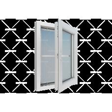 Москитная сетка на пластиковое окно, белая вставная