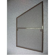Москитка на окно ПВХ со скосом, трапециевидная коричневая