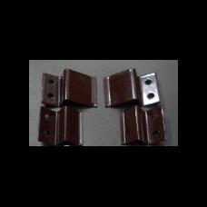 Крепление верх - низ для москитной сетки металл коричневый