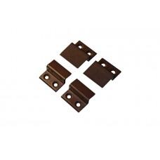 Крепление верх - низ  для москитной сетки пластик коричневый